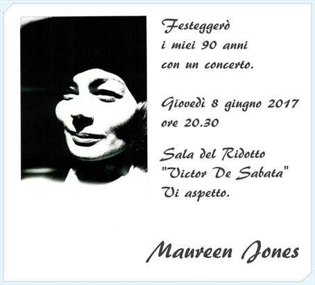 Concerto 8 giugno 2018 di Maureen JONES (promosso dal CFR) insieme a ABC