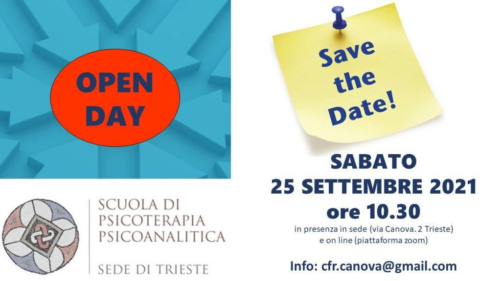 SAVE THE DATE – OPEN DAY SCUOLA DI SPECIALIZZAZIONE