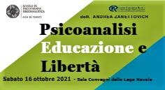 SEMINARIO – PSICOANALISI, EDUCAZIONE E LIBERTA'